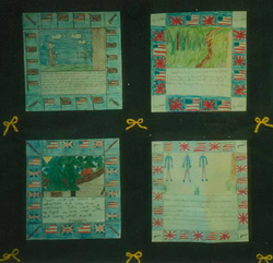 Book report story quilt