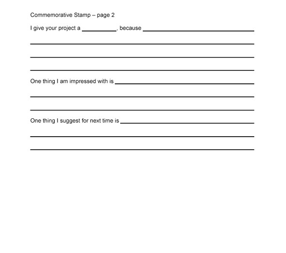 Commemorative Stamp Evaluation Form